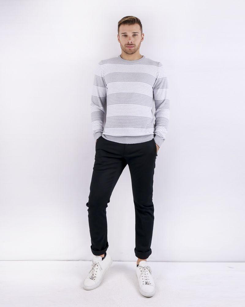 Pull en coton éponge bicolore Woolgroup