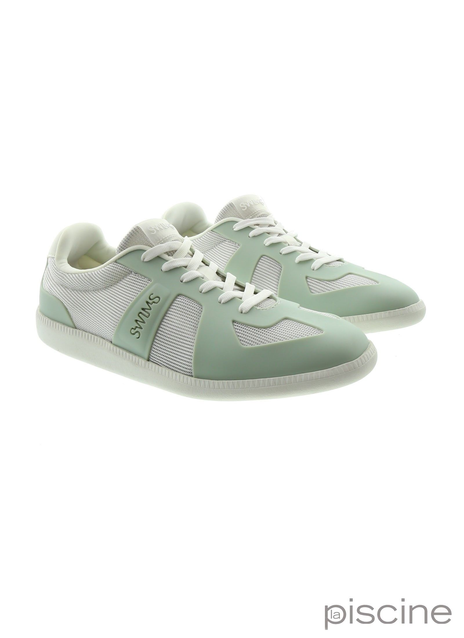 Basket blanc et vert Swims