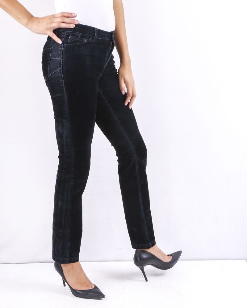 Pantalon en velours noir May June