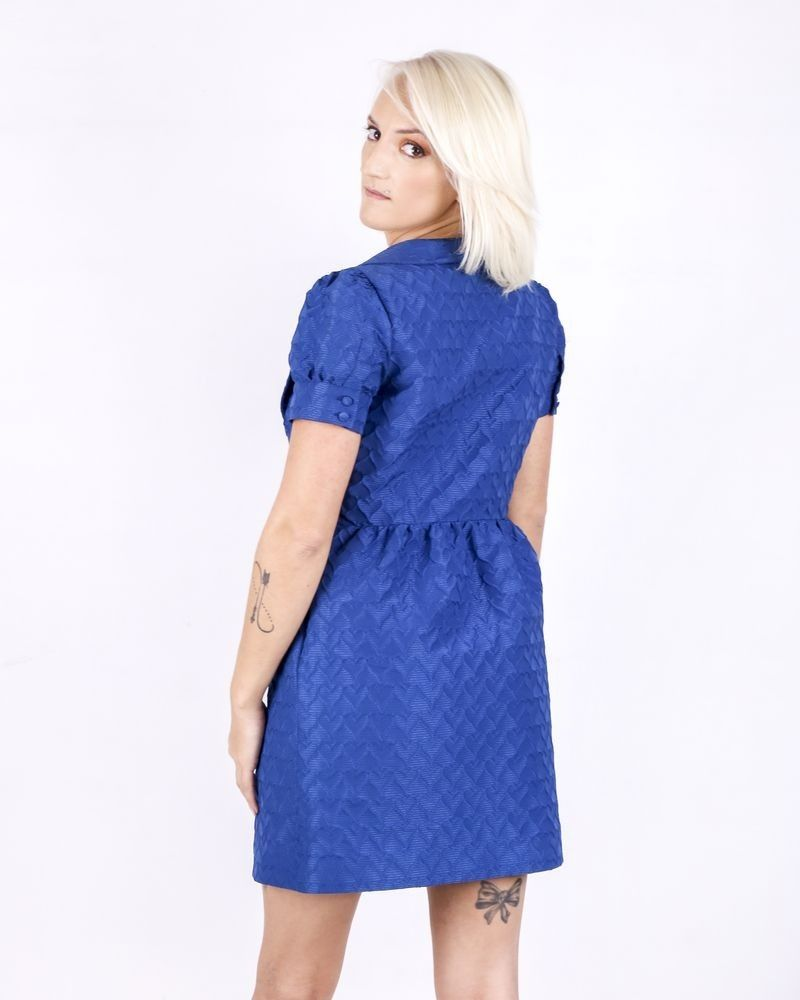 Robe bleue à motif 3D Valentino