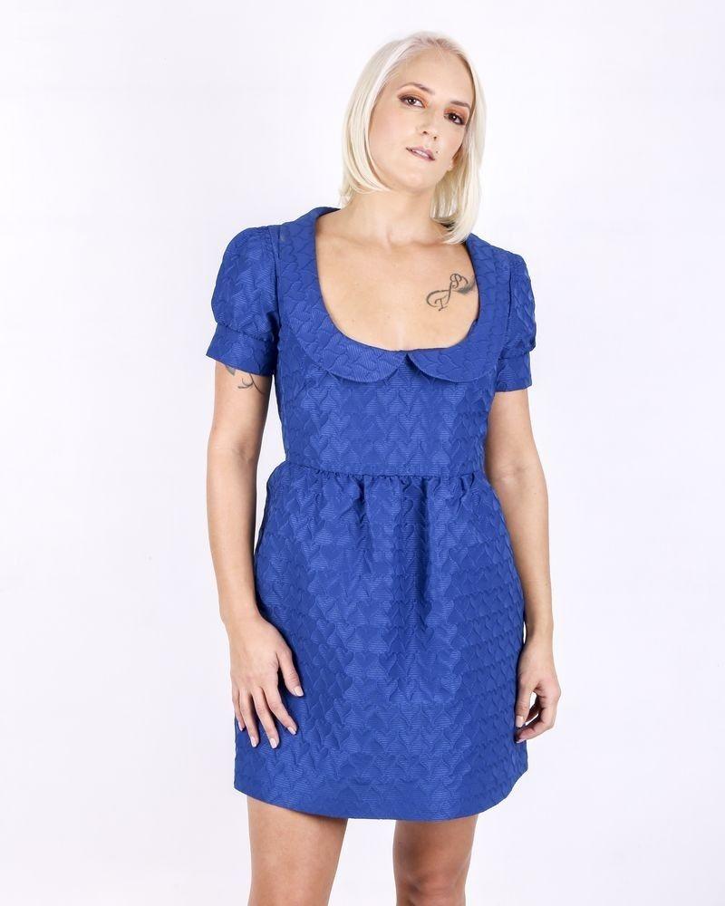 Robe bleue à motifs 3D Valentino