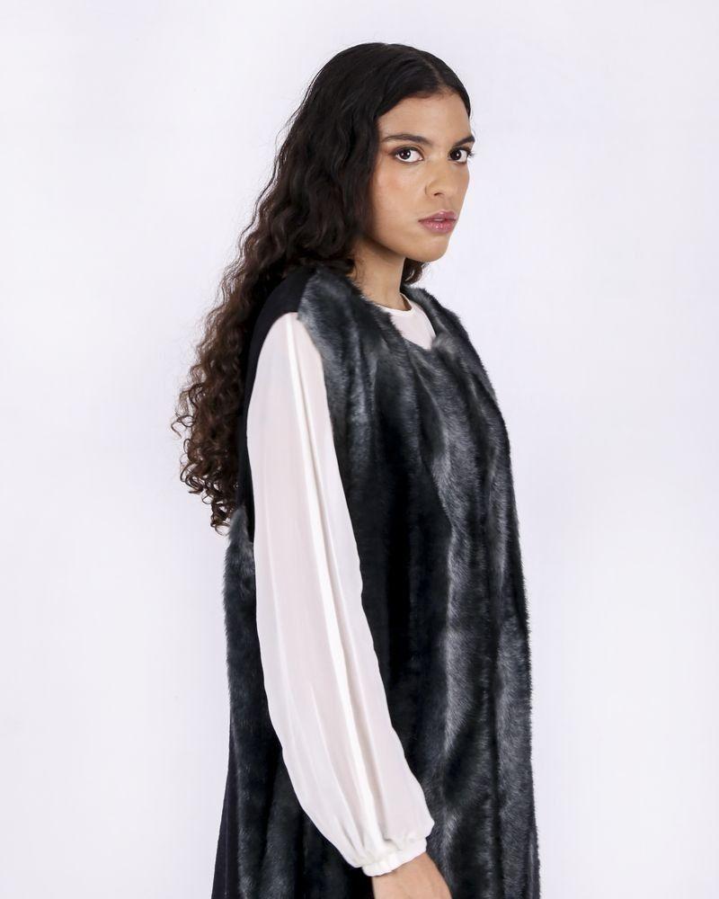 Manteau sans manches en fourrure synthétique Severi Darling
