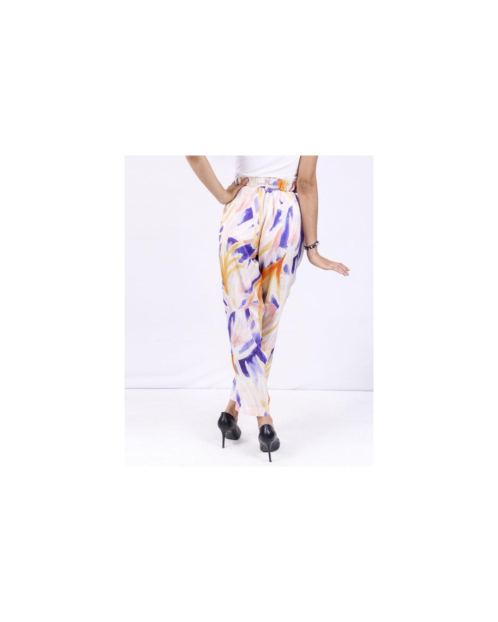 Pantalon fluide à motifs abstraits Forte Forte