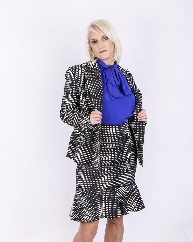 Veste de tailleur en soie bicolore Emanuel Ungaro