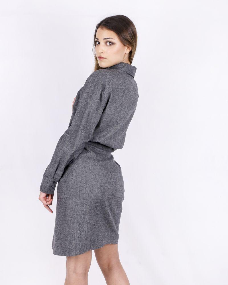 Robe façon chemise gris chiné Ba&sh