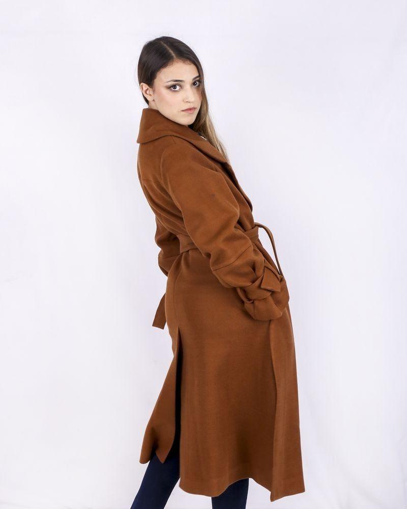Trench coat en laine camel Isabelle Blanche