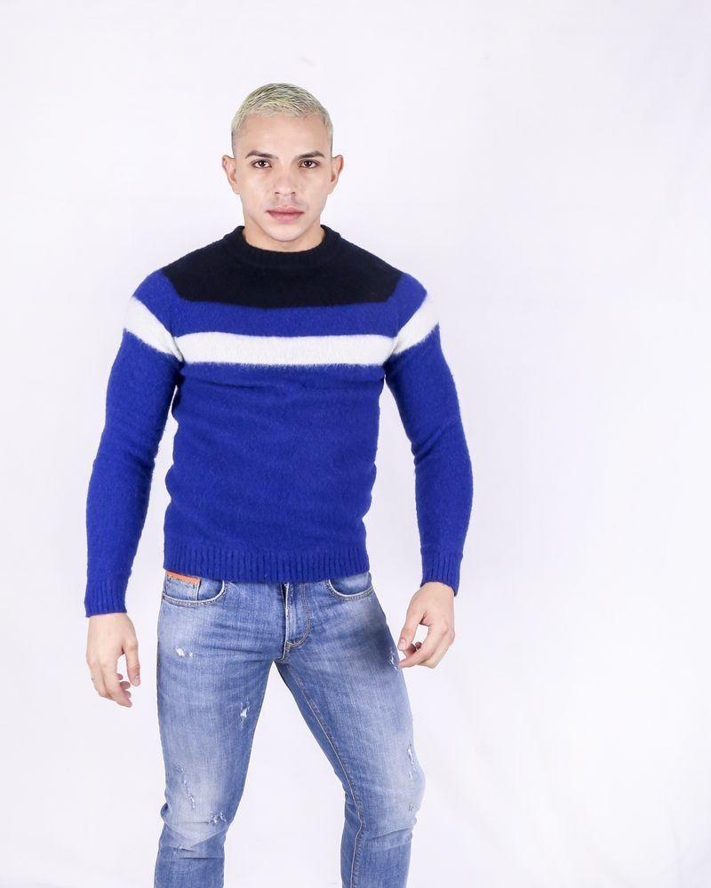 Pull en laine tricolore Woolgroup
