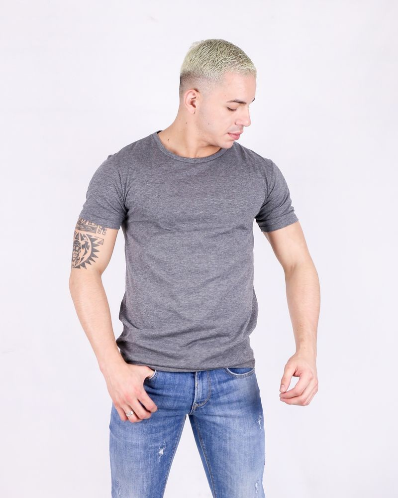 T-shirt en coton gris Ly Adams