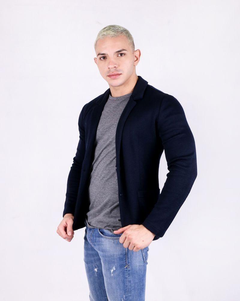 Blazer en laine bleue Woolgroup
