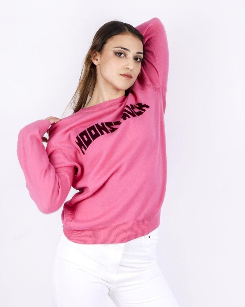 Pull en laine rose Isabelle Blanche
