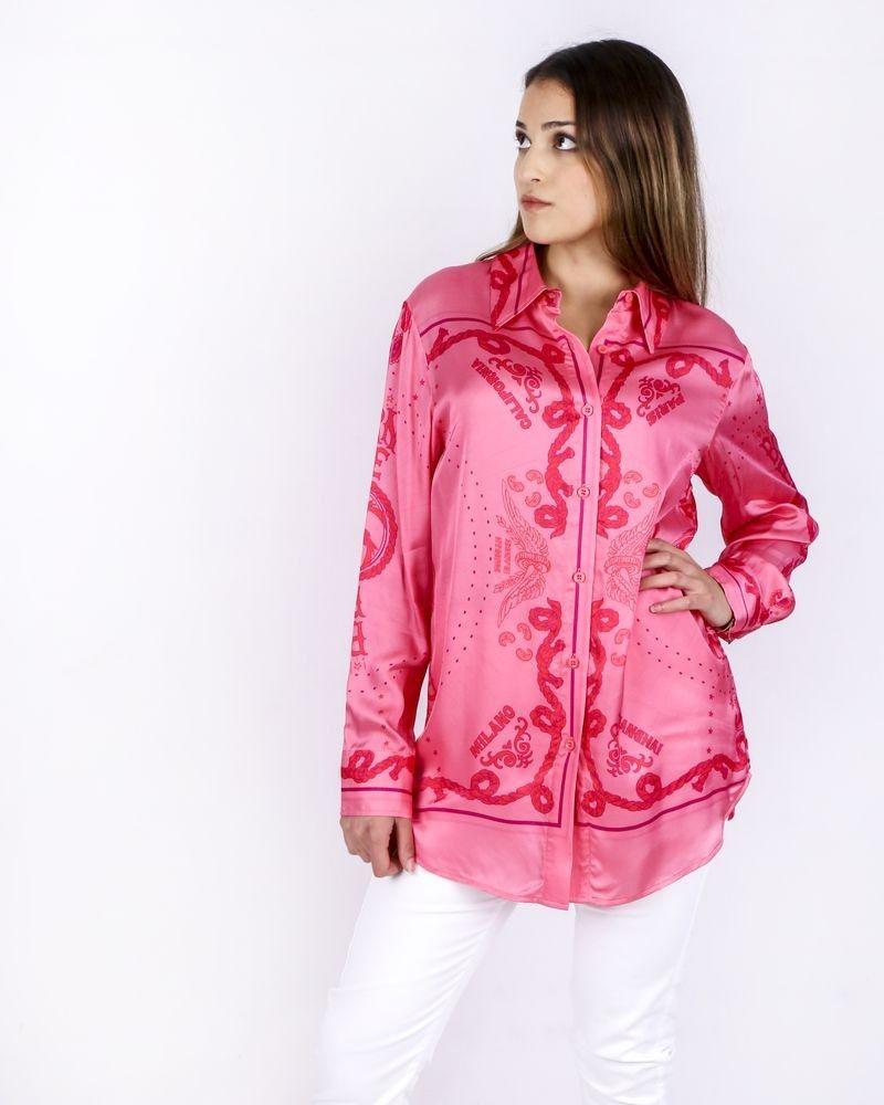 Chemisier rose à motifs foulard Isabelle Blanche