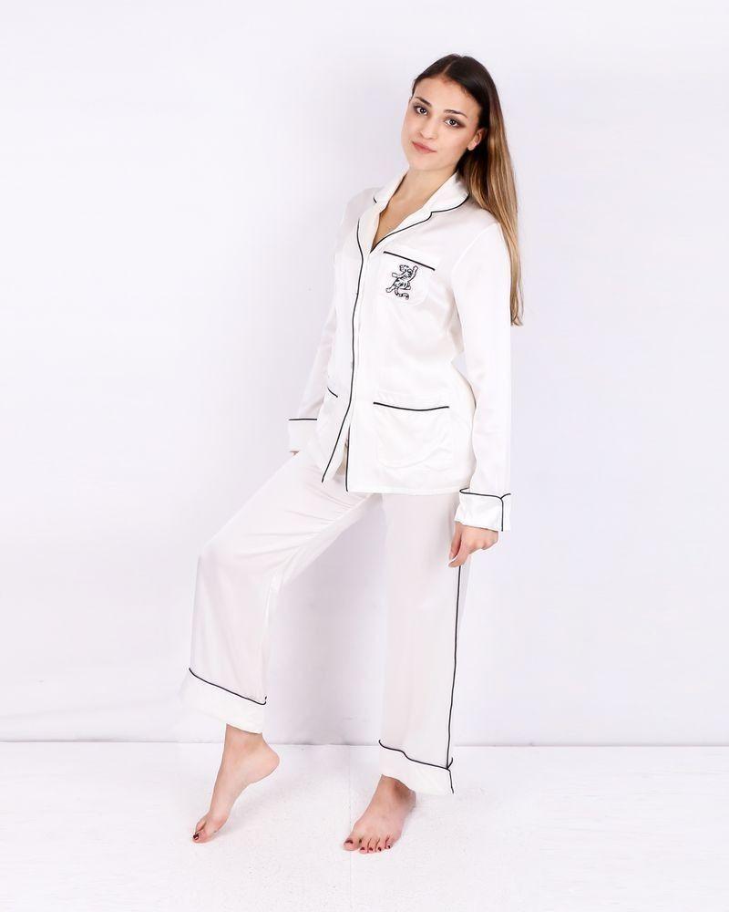 Pyjama 100% Soie blanc Olivia Von Halle