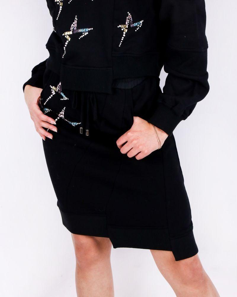 Jupe noire perlée Isabelle Blanche