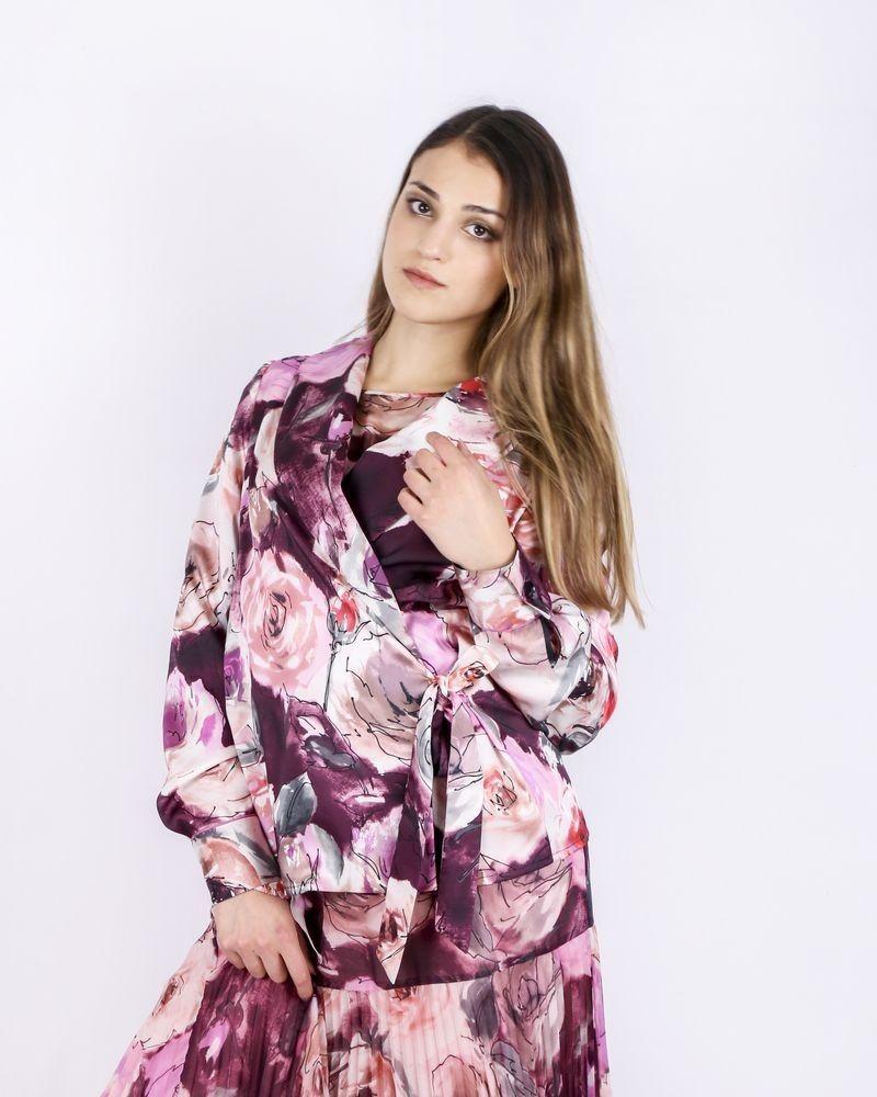 Veste cintrée à motifs fleuris Blumarine