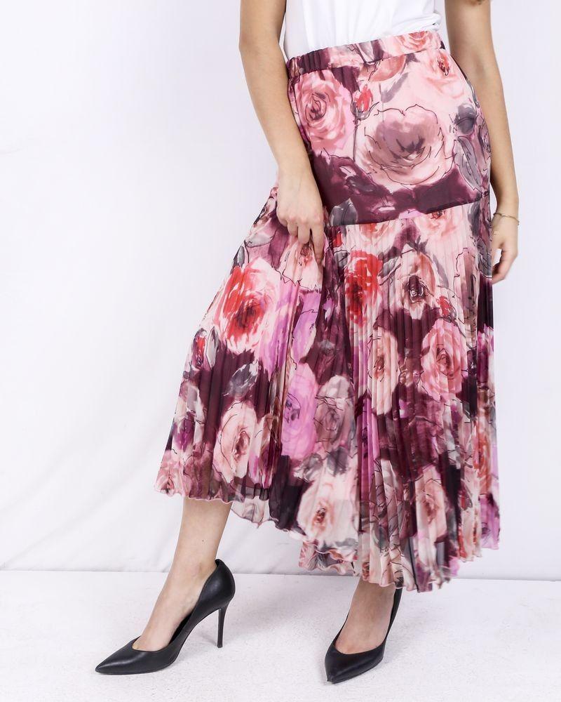 Jupe plissée à motifs fleuris Blumarine