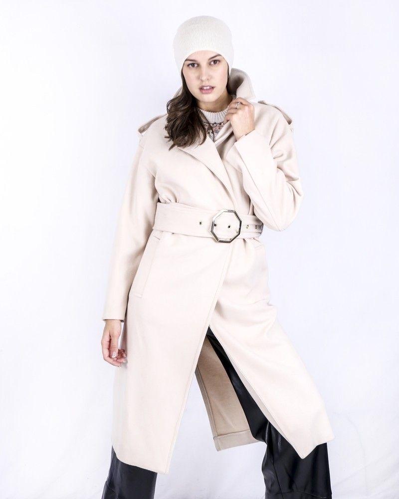 Manteau long beige Space Simona Corsellini
