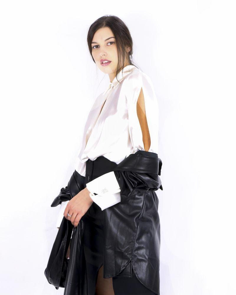Blouse en soie blanche Space Simona Corsellini