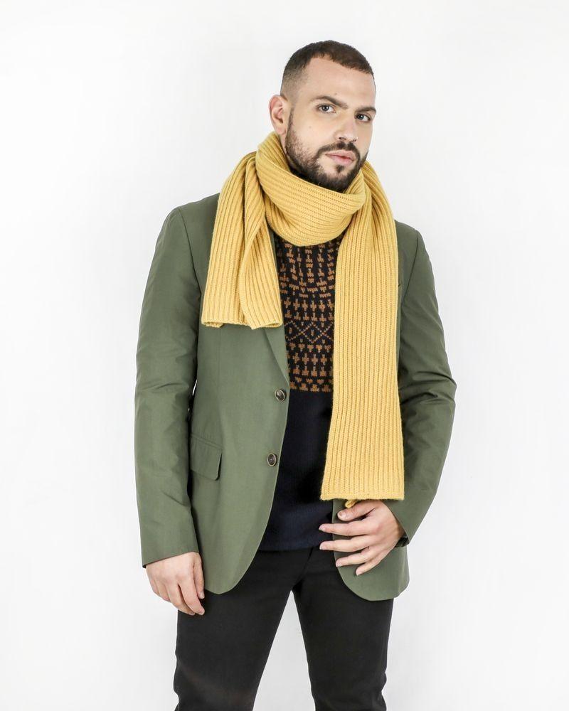Echarpe en cachemire jaune Corneliani