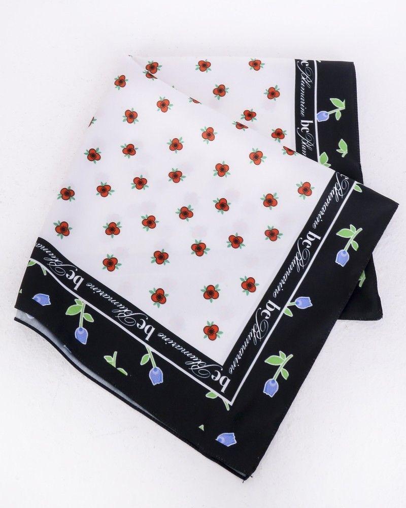 Carré de soie blanc à motifs floral Be Blumarine