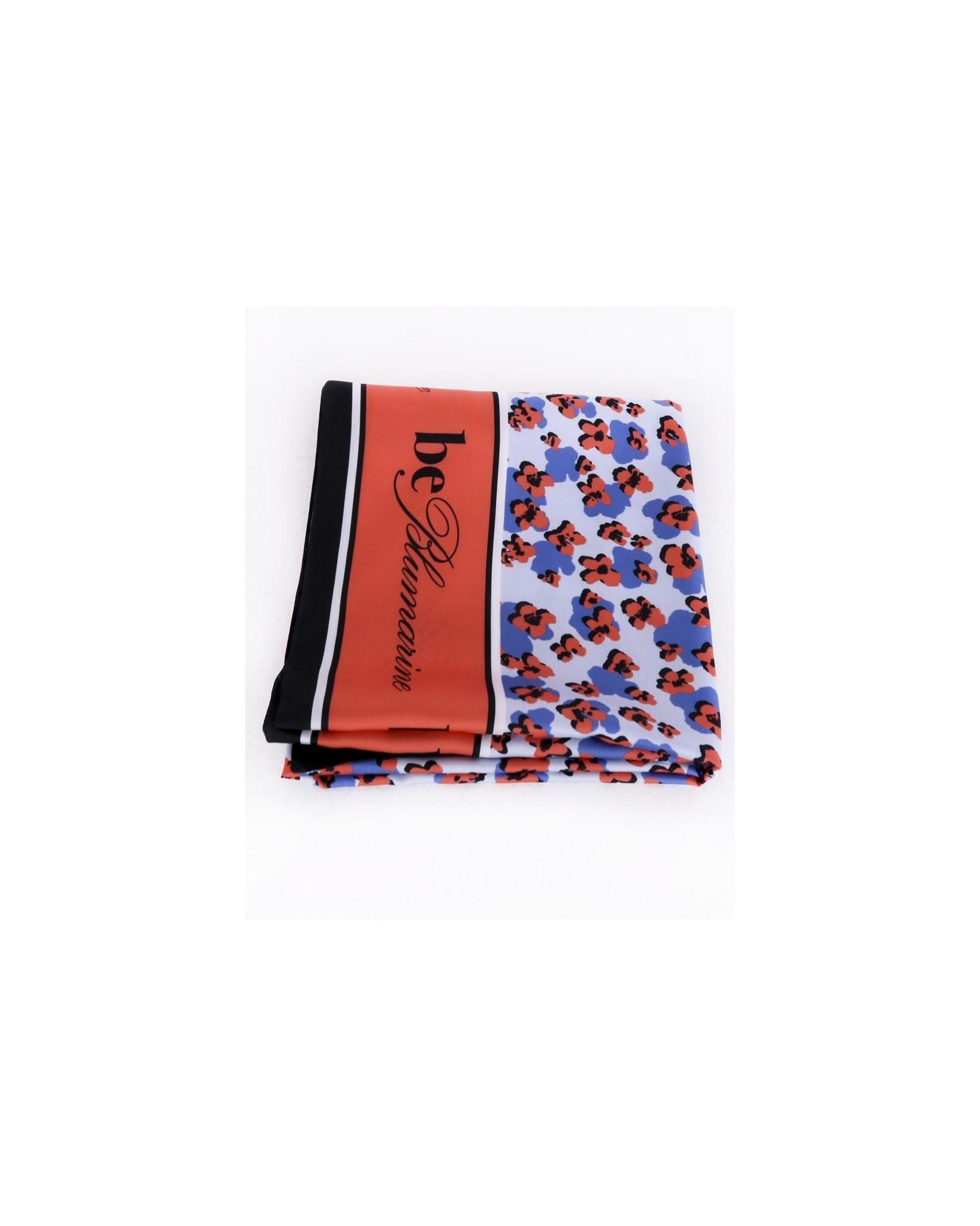 Maxi carré de soie tricolore à motifs floral Blumarine