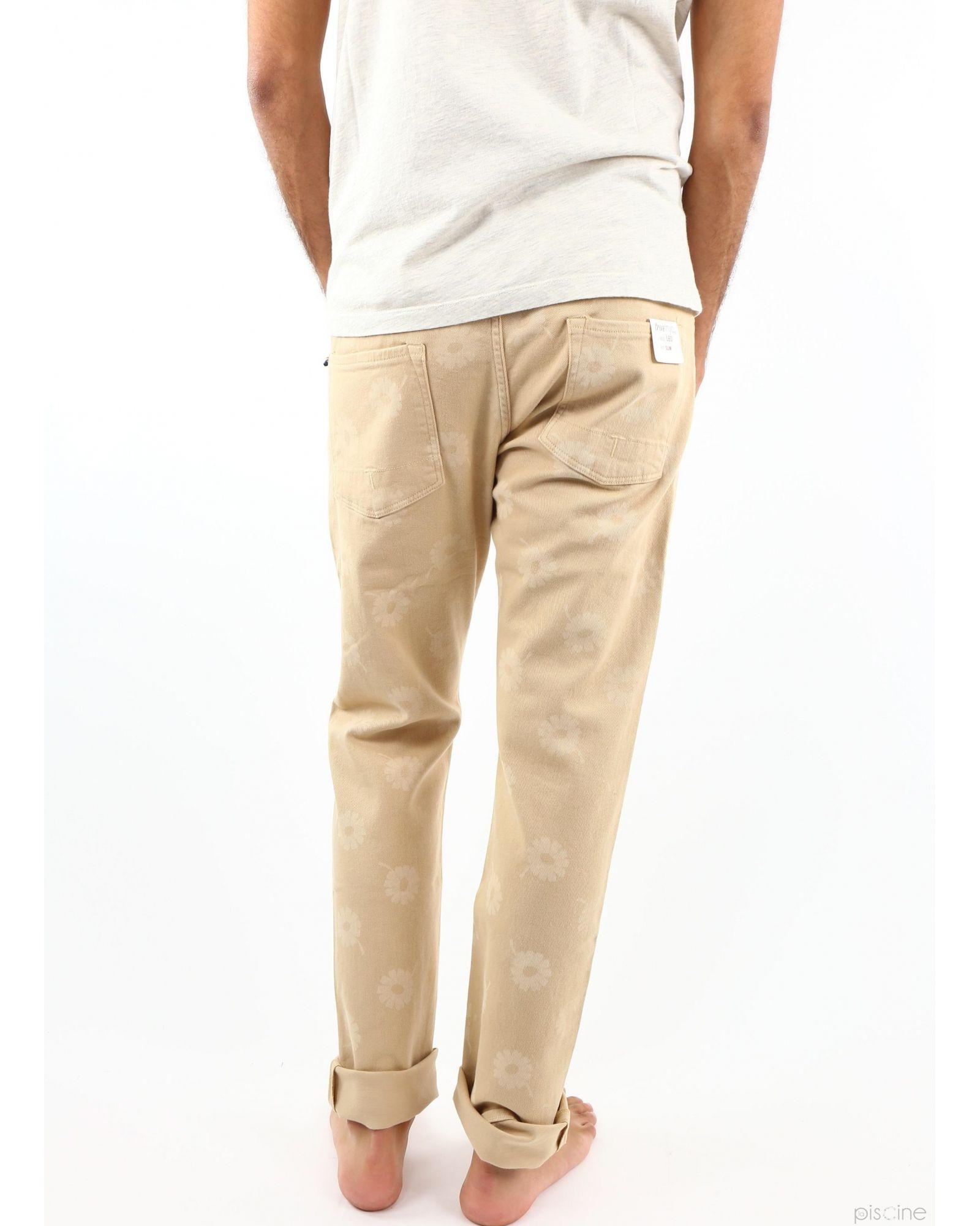 Pantalon beige à fleurs TrueNYC
