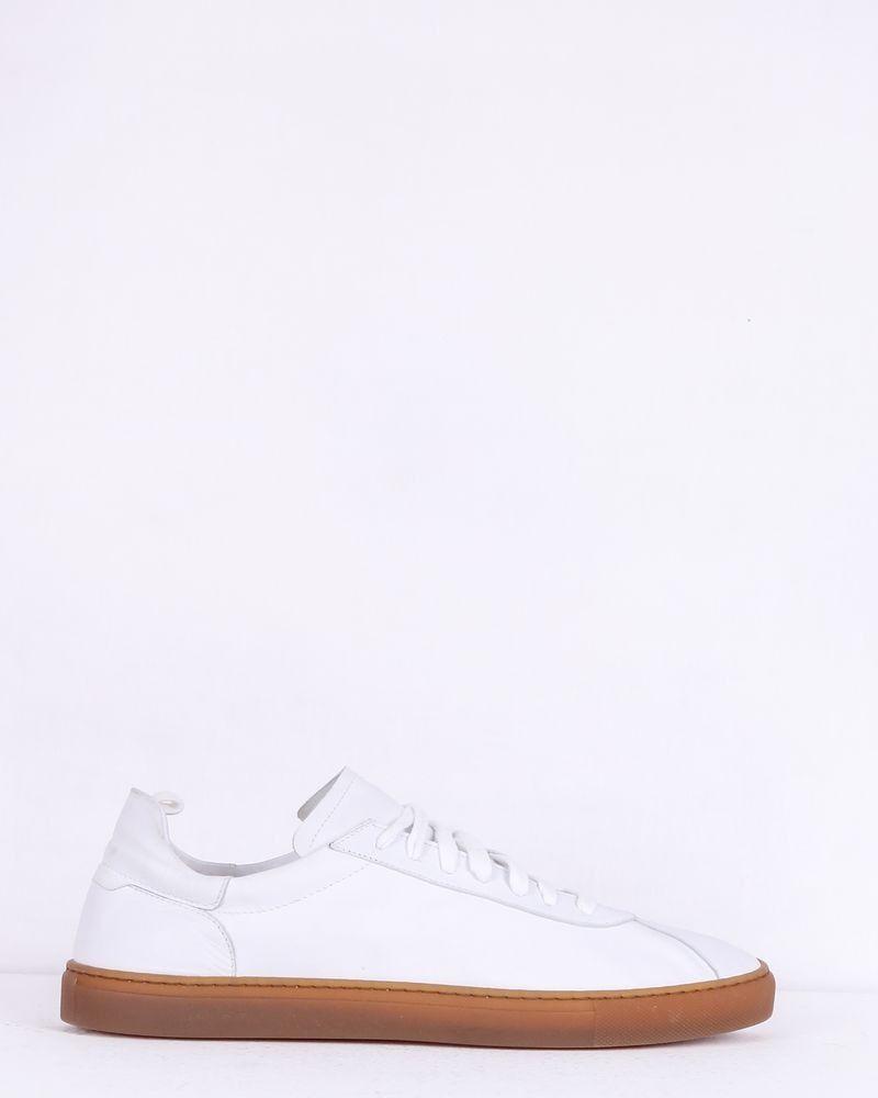 Basket tennis en cuir blanc Casheart