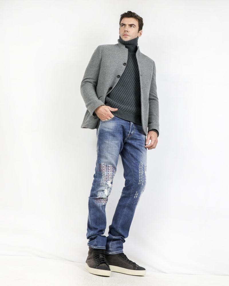 Jean skinny à point de broderie Roberto Cavalli