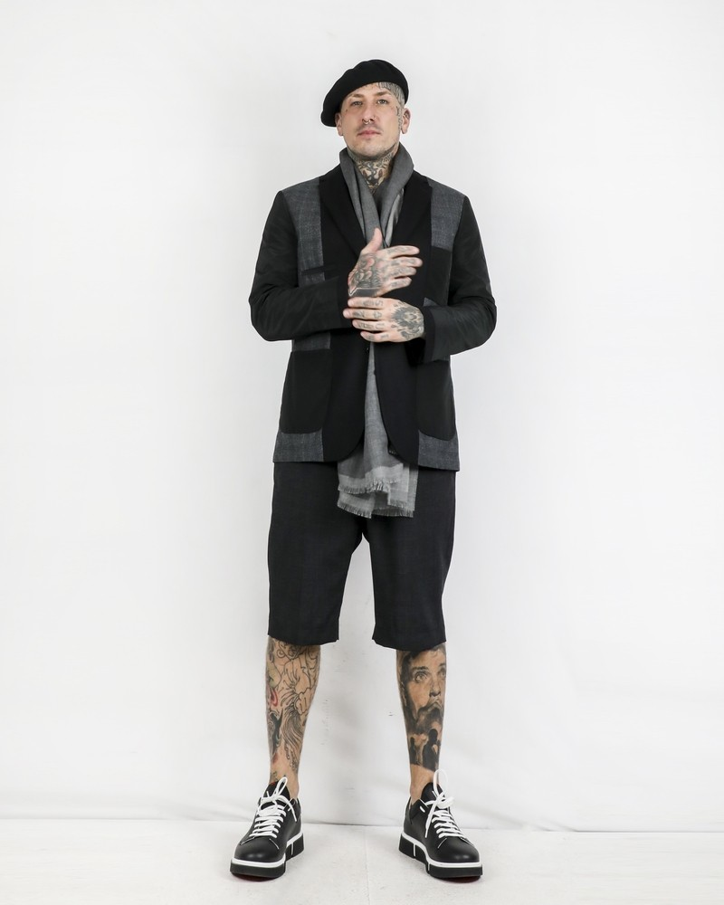 Maxi foulard en cachemire et soie gris Corneliani