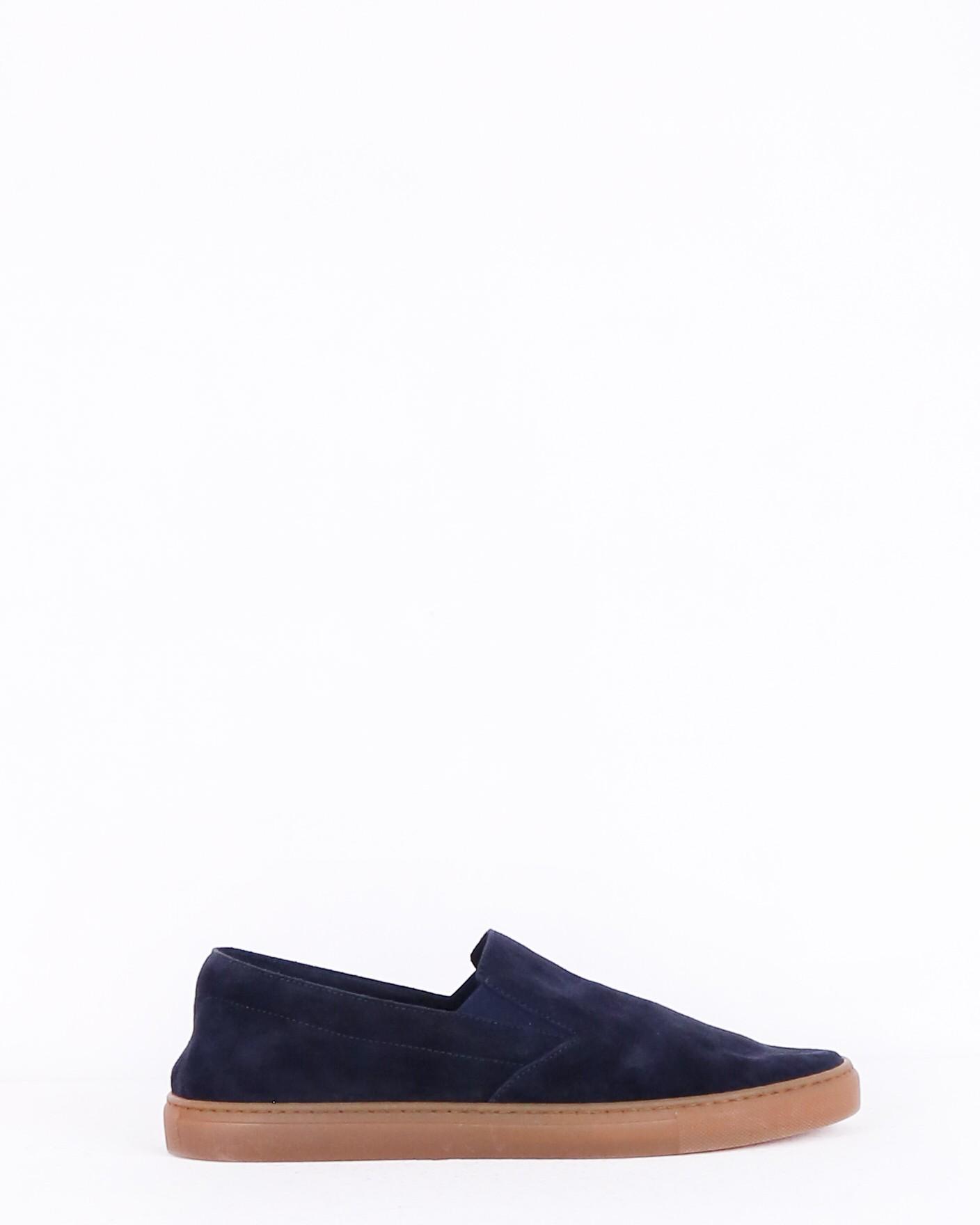 Slippers en nubuck bleu Casheart