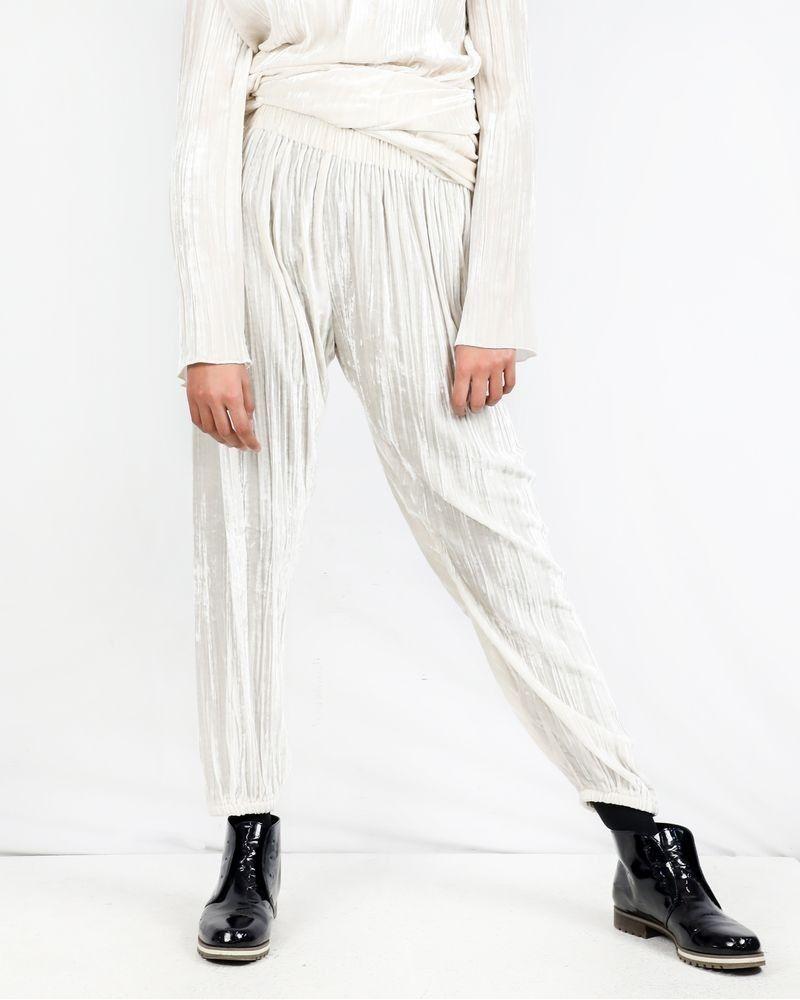 Pantalon en velours beige Forte Forte
