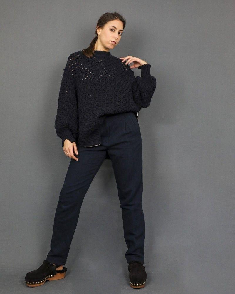 Pantalon cigarette en jean à plis Forte Forte