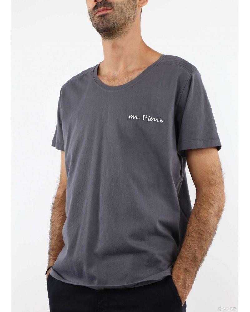T-Shirt 'Mr Pierre' gris Pierre Balmain
