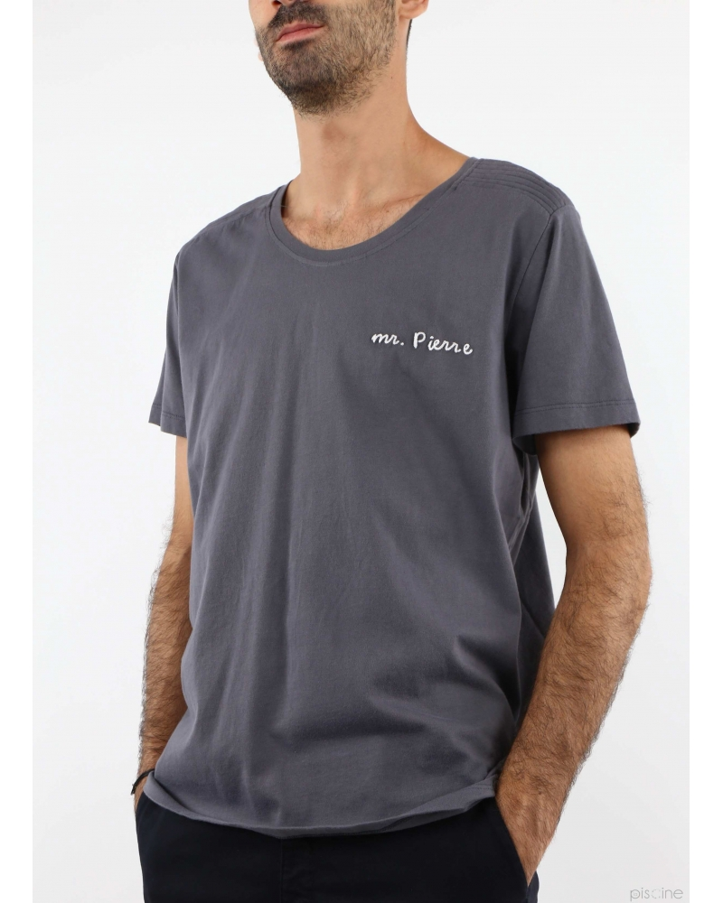 T-Shirt 'Mr Pierre' gris Pierre Balmain