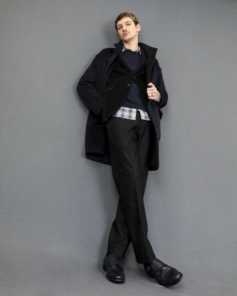 Pantalon droit en laine mélangée avec taille ajustable Ly Adams