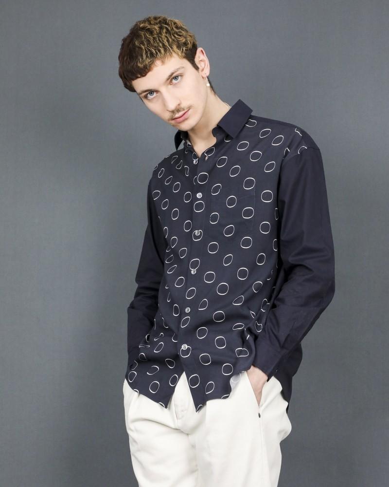 Chemise à motifs ronds Edition M.R