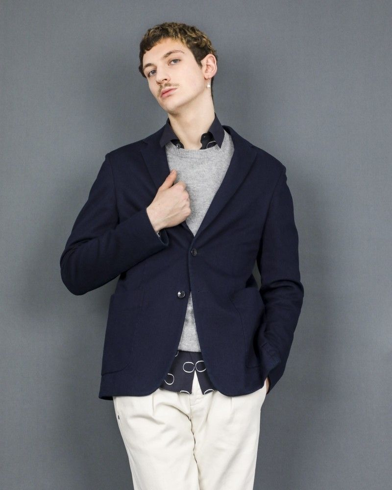 Veste en jean bleu foncé Dondup