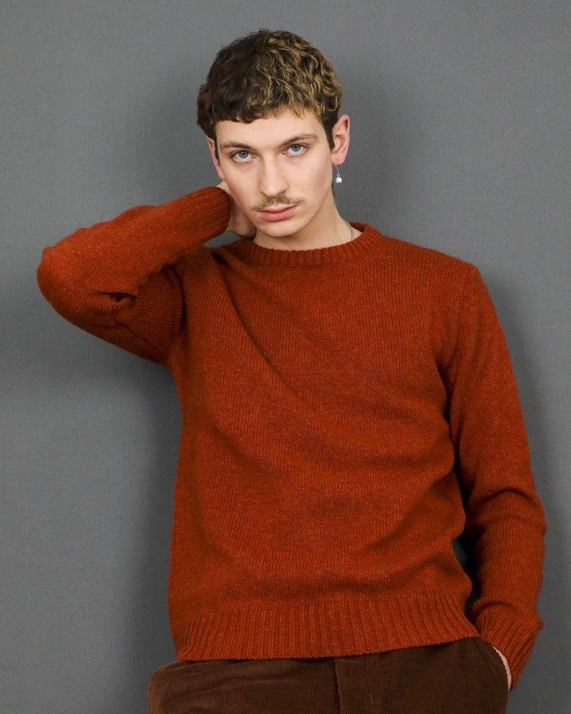 Pull en laine couleur orange Casheart