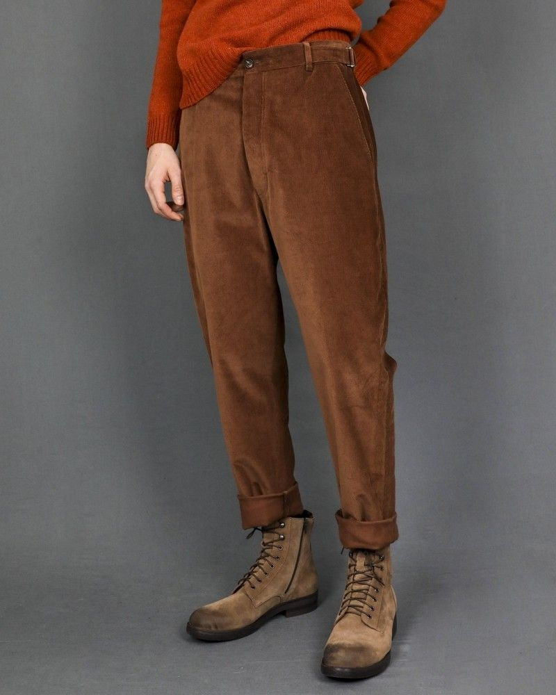 Pantalon droit couleur marron avec taille ajustable Pal Zileri