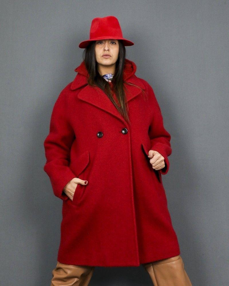 Chapeau fedora en peau de lapin rouge Forte Forte