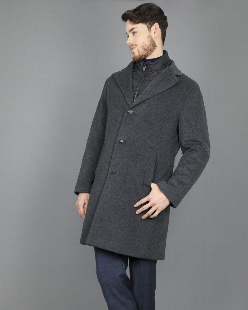 Manteau laine et cachemire gris Pal Zileri