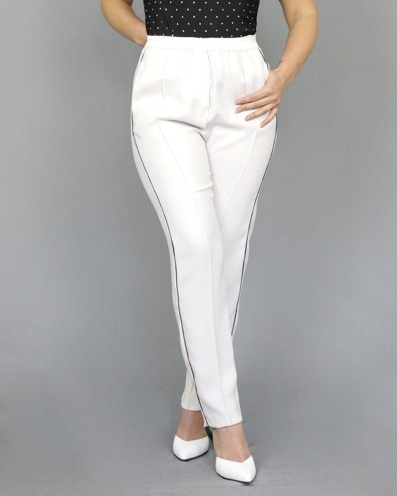 Pantalon de survêtement en crêpe blanc cassé Nude