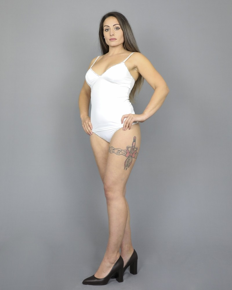String en stretch blanc finitions D&G Underwear