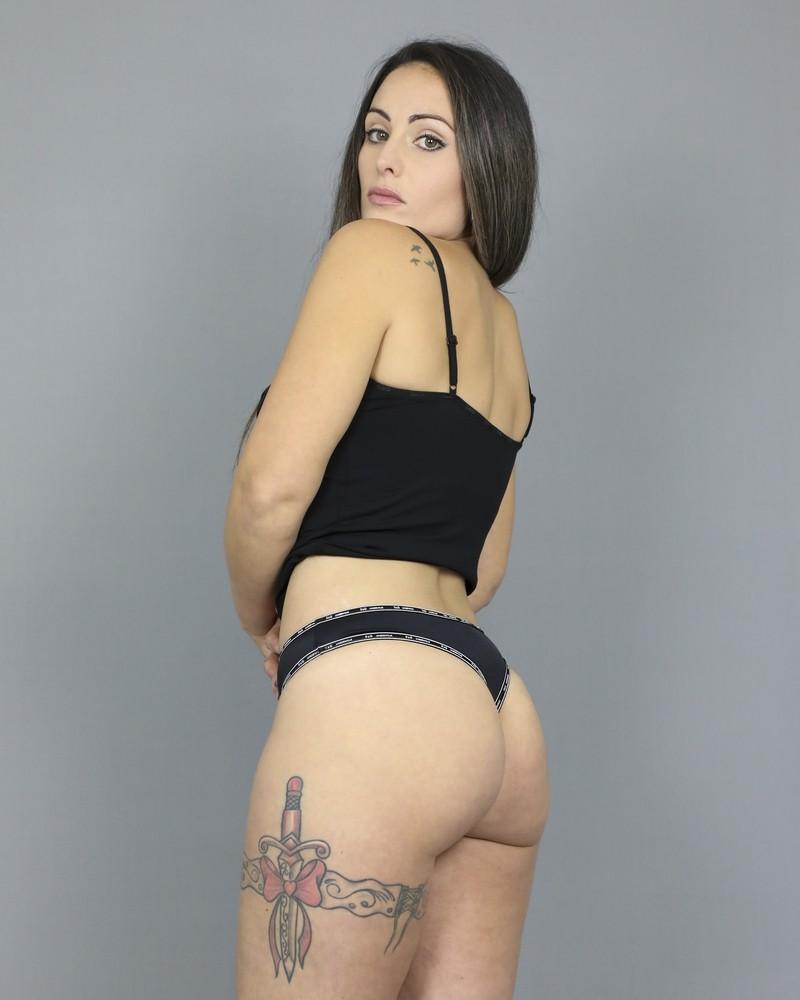String en stretch noir finitions D&G Underwear
