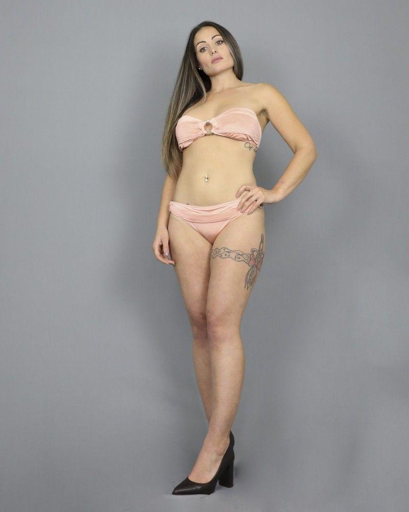 Bikini rose avec anneaux dorés Valentina Vox