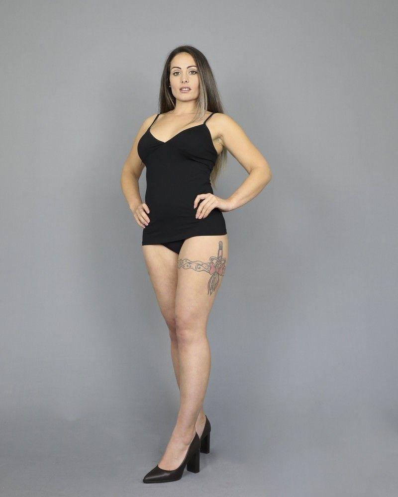 Culotte en jersey stretch noir D&G