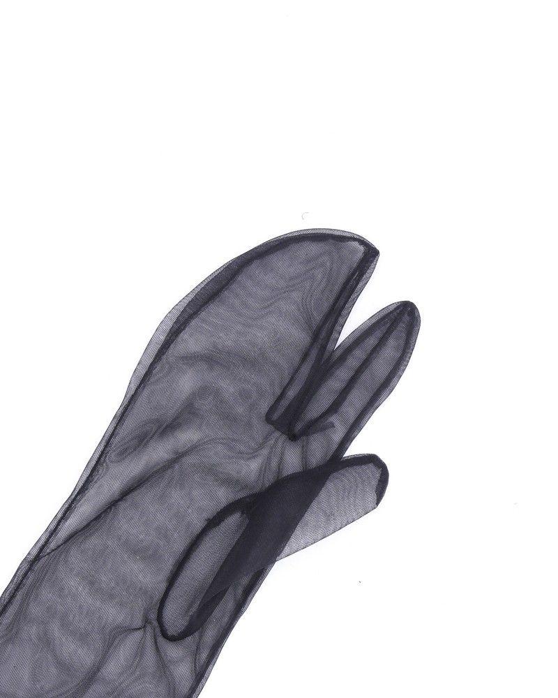 Gants transparents noirs Maison Martin Margelia
