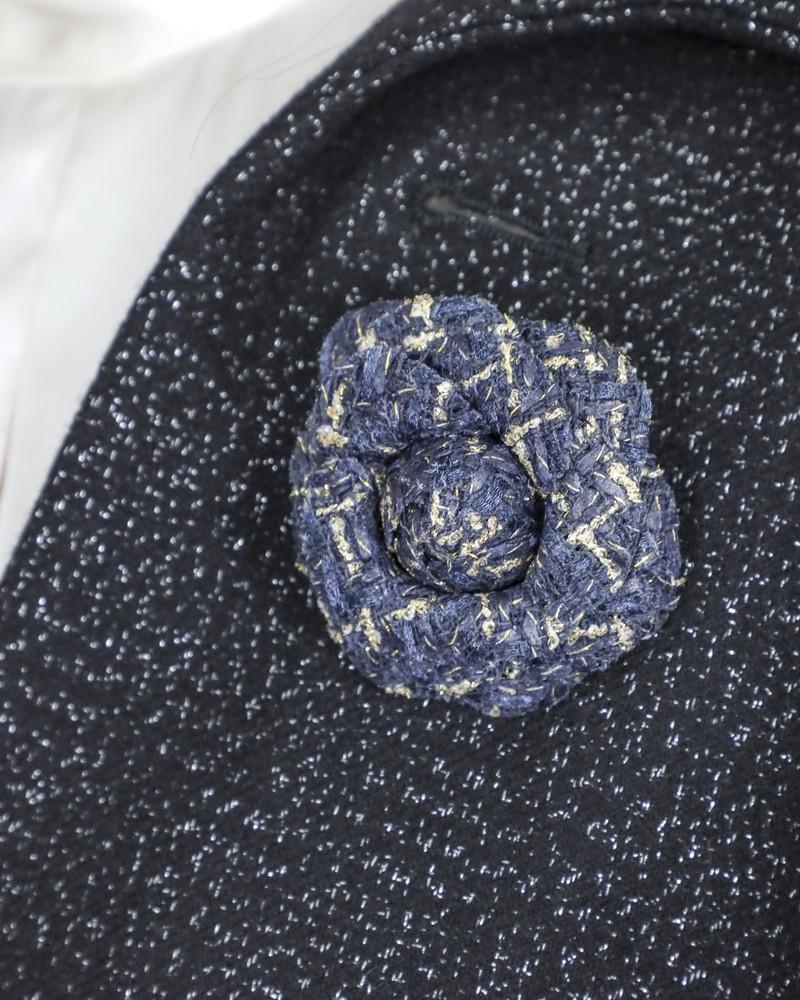 Broche fleur camélia bleue Edward Achour