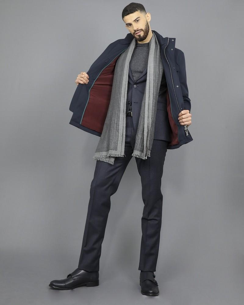 Pull en laine et cachemire gris Woolgroup