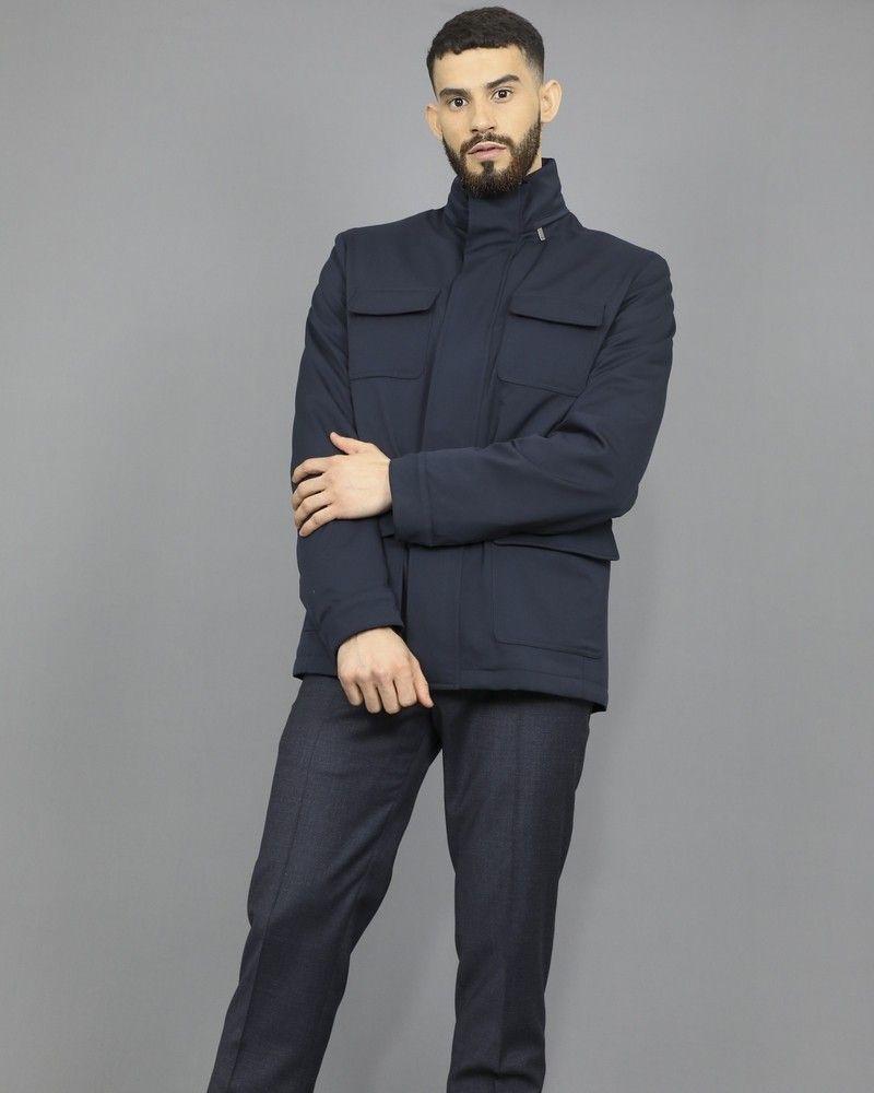 Veste bleue en laine fine à quatre poches Pal Zileri