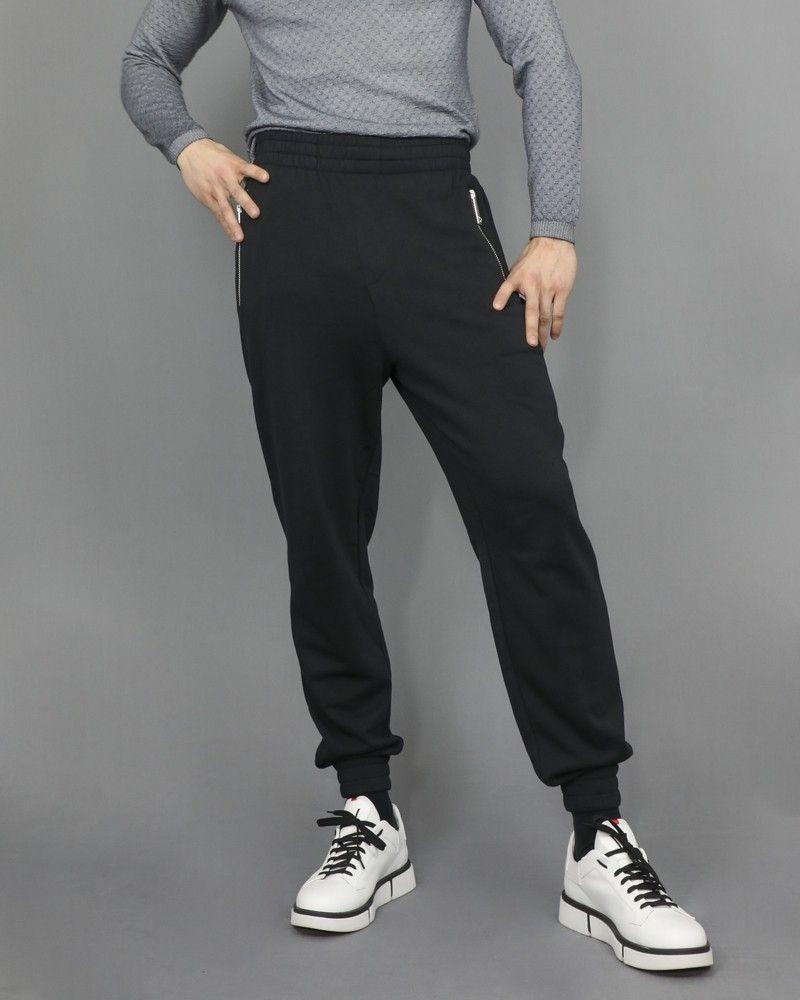 Jogging en coton noir à poche zippée John Richmond